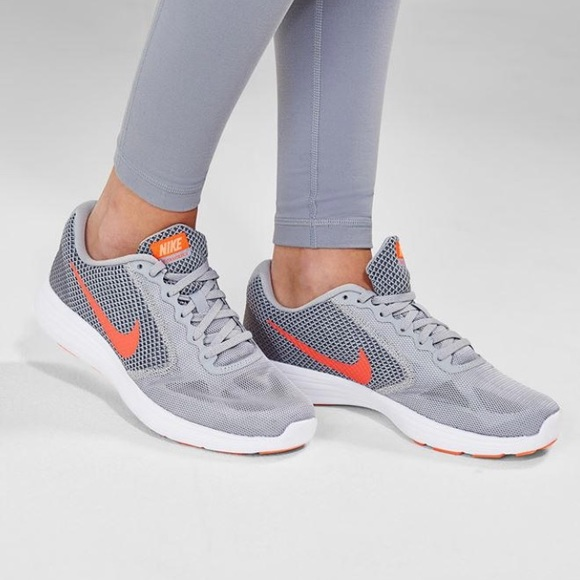 ff601e23c89 Nike Womens Grey Revolution 3 Running Shoe Trainer